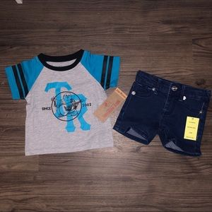 True Religion NWT Shirt & Shorts Set
